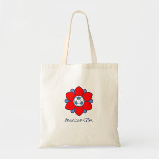 1 Red Soccer Girl Tote Bag