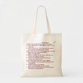 1-SAGITTARIUS Nov 22-Dec 21 tote bag poem