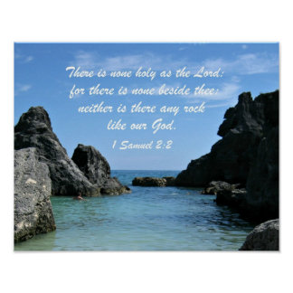 1 Samuel 2:2 Poster