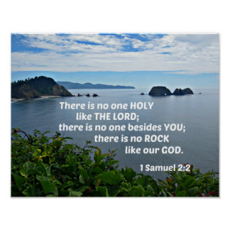 1 Samuel 2:2 There is no one holy like the Lord Poster