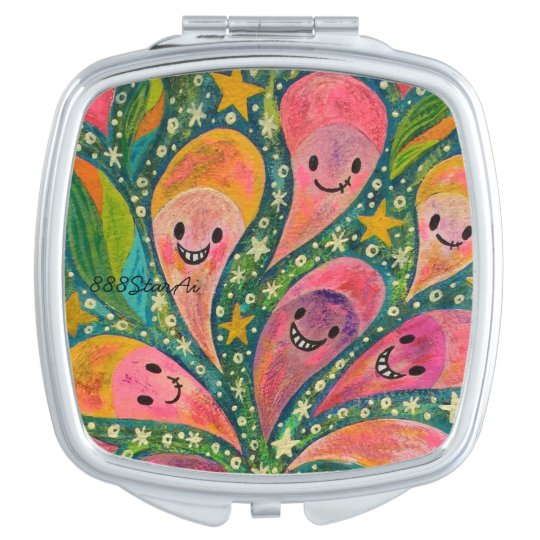 1 sections 1 in laughing flower acrylic picture compact mirrors