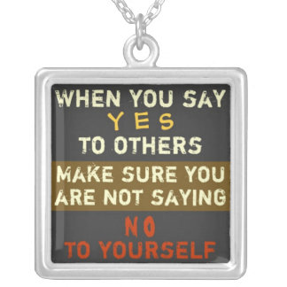 1 Side / YES & NO ~  Square Necklace