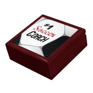 #1 Soccer Coach Large Ball Gift Box