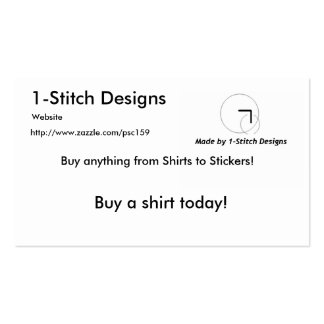 1-Stitch Designs Pack Of Standard Business Cards
