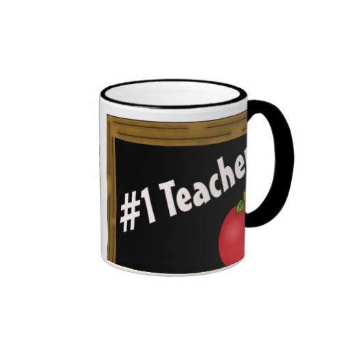 #1 Teacher Mugs
