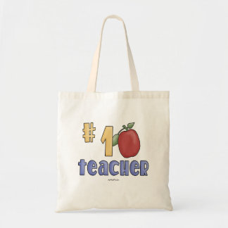 #1 Teacher Tote Bag