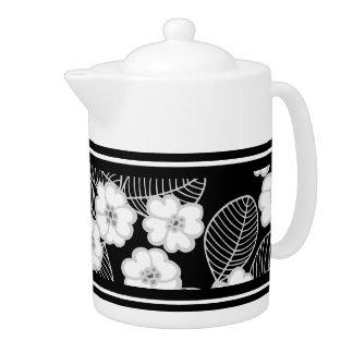 1 Teapot Damask Gray Black White DECOR SETS