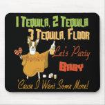 1 Tequila 2 Tequila 3 Tequila Floor Mousepad