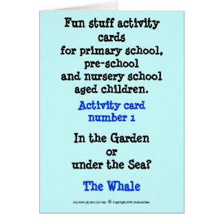 1 The Whale Card