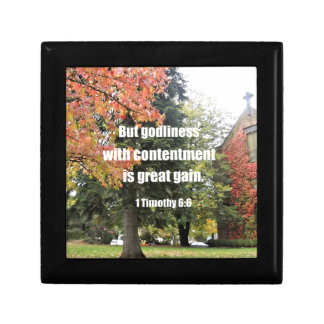 1 Timothy 6:6 But Godliness with contentment is Gift Box