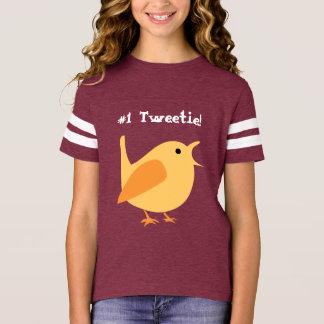 #1 Tweetie Girls Football Shirt, Customizable T-Shirt