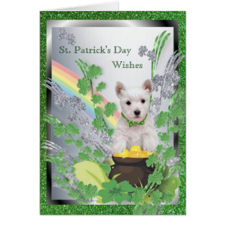 1. Westie Puppy Number One Spiritual Message Card