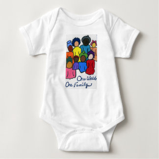 1 World, 1 Family Baby Shirt