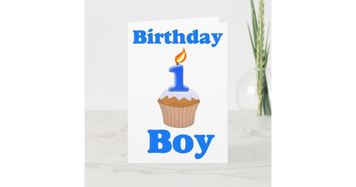 1 Year Old Birthday Boy Card Zazzle Ca