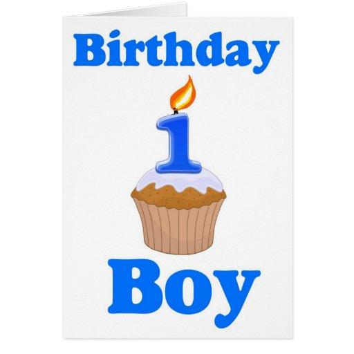 1 Year Old Birthday Boy Card