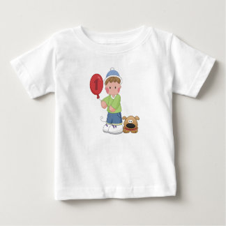 1 Year Old Boy and His Dog Baby T-Shirt