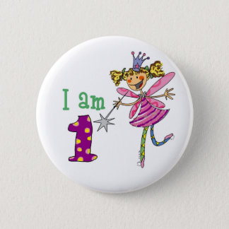 1 year old princess fairy 2 inch round button