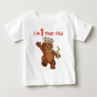 1 Year Old Royal Bear Birthday Baby T-Shirt