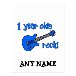 1 year olds rock Personalized Baby s 1st Birthday Post Cards
