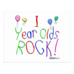 1 Year Olds Rock ! Postcard