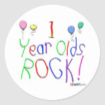 1 Year Olds Rock ! Round Sticker