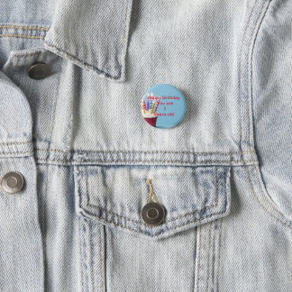 1 years old birthday badge 1 inch round button
