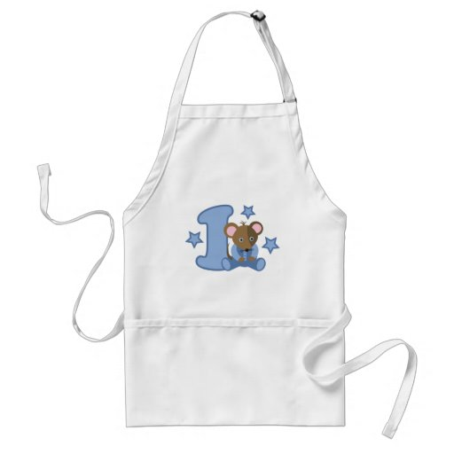 1 Yr Old Baby Mouse Birthday Gift Aprons