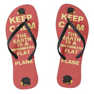 """(#1A,) FEPE """"KEEP CALM..."""" (FLIPFLOPS) FLIP FLOPS"""