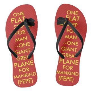 "(#1a) FEPE ""ONE FLAT STEP FOR MAN..."" (FLIPFLOPS) Flip Flops"