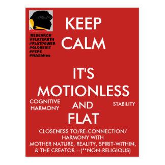 "(#1b) FEPE ""KEEP CALM IT'S MOTIONLESS AND FLAT"" Postcard"