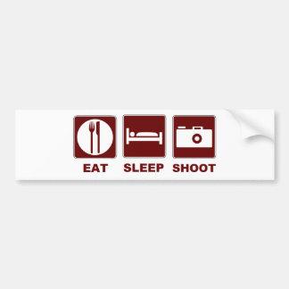 1eat sleepBlankSHOOT Bumper Sticker