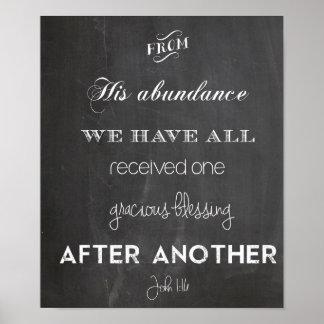 1h16 de John bénissant le thanksgiving de mariage  Poster