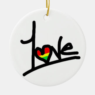 1love ceramic ornament
