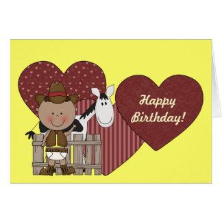 1st 2nd 3rd Birthday Ethnic Toddler Boys Card