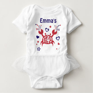 1st 4th of July Tutu Bodysuit Baby Girl First 4th