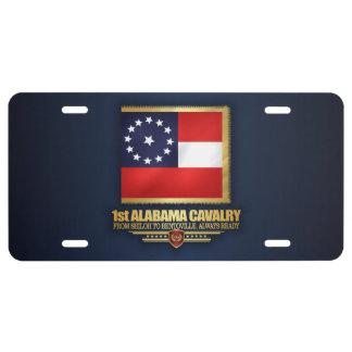 1st Alabama Cavalry License Plate
