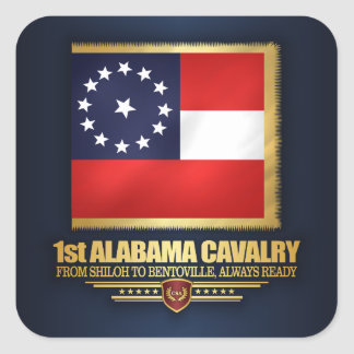 1st Alabama Cavalry Square Sticker