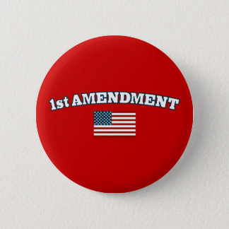 1st Amendment American Flag 2 Inch Round Button