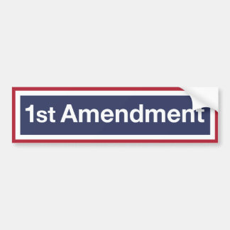 1st Amendment Bumper Sticker