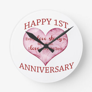 1st. Anniversary Clocks