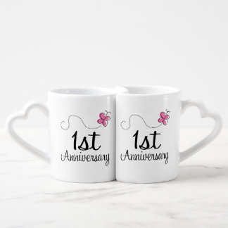 1st Anniversary Couples Mugs