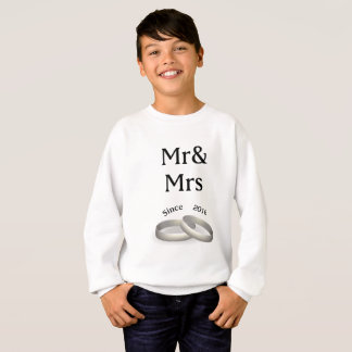 1st anniversary matching Mr. Ast Mrs. Since 2016 Sweatshirt