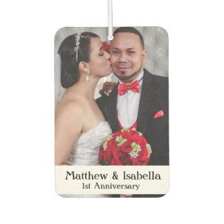 1st Anniversary Personalized Wedding Photo Air Freshener