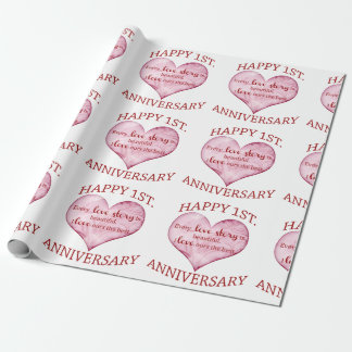 1st. Anniversary Wrapping Paper