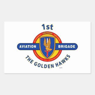 """1ST AVIATION BRIGADE VIETNAM """"GOLDEN HAWKS"""" STICKER"""