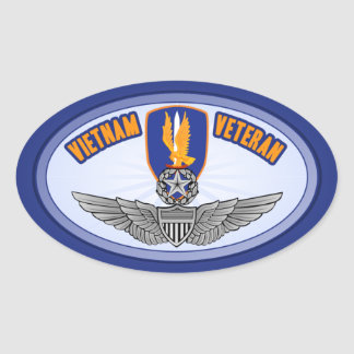 1st Avn Bde Master Aviator Oval Sticker