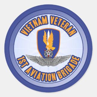 1st Avn Bde Master Aviator Round Sticker