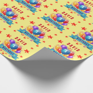 1st BABY Birthday Festive Colorful Balloons V10IZ1 Wrapping Paper