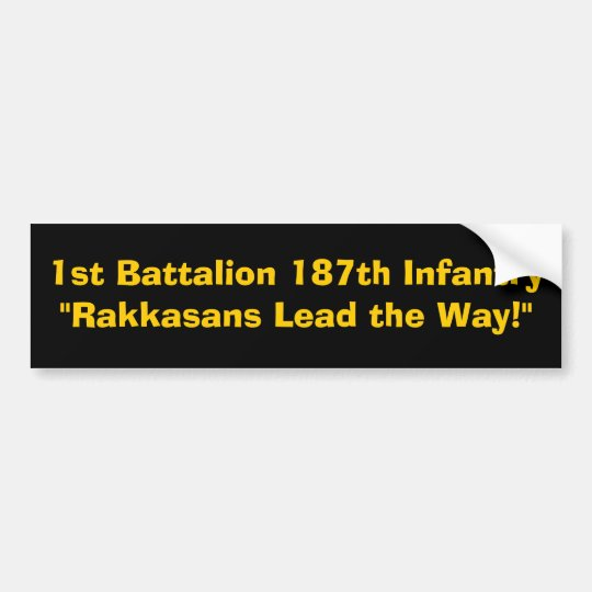 "1st Battalion 187th Infantry""Rakkasans Lead the... Bumper Sticker"