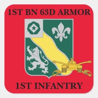 1ST BATTALION 63D ARMOR 1ST INFANTRY STICKERS